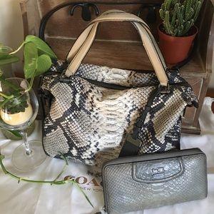 COACH Python Genuine Leather Prairie Satchel